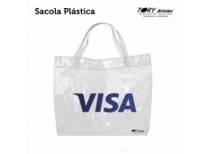 Sacola Plástica, acabamento com alça de silicone, pintura serigráfica ou impressão digital,Tamanhos Variados.