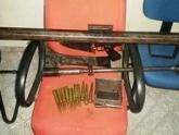 Em coletiva, SSP apresenta armas de grosso calibre apreendidas em Grajaú