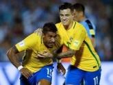 Brasil vence Uruguai de virada com 3 gols de Paulinho e 1 de Neymar