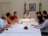 Em reunião, Flávio Dino define ações emergenciais para amenizar impactos da chuva