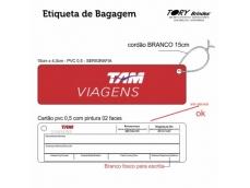TAG de PVC 0,5mm - personalização em serigrafia.