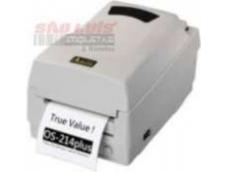 A Impressora de Etiquetas OS214TT Plus é a impressora térmica com a melhor relação custo benefício do mercado para impressão de etiquetas com código de barras, logotipos etc. Com inovadora tecnologia TrueSpeed, proporciona uma velocidade constante de impressão de até 3 polegadas por segundo. Possui um moderno gerenciamento de memória que permite a armazenagem de formatos, gráficos e fontes. Compacta e leve pode ser utilizada em qualquer espaço.* Método de impressão: Transferência Térmica / Térmica Direta* Velocidade de impressão: 3 pol/s (76mm/s)* Largura máxima da etiqueta: 104 mm (4,1 polegadas)* Resolução: 203dpi (8 pontos/mm)* Memória: 512KB RAM / 512KB FlashEtiqueta* Largura máxima: 110mm (4,1 polegadas)* Largura mínima: 25mm (1 polegada)* Comprimento máximo: 1143mm (45 polegadas)* Comprimento mínimo: 10mm (0,4 polegada)* Diâmetro do rolo: 109mm / 4,3 polegadas (externo); 25mm / 1 polegada (interno)Ribbon* Tipo: Cera, Misto ou Resina* Largura: 110mm (4,3