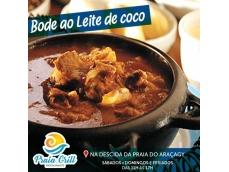 Venha saborear um dos nossos carros chefe.Delicioso Bode ao Leite de Coco.Acompanhamentos: Arroz branco, pirão, farofa e vinagrete.