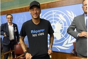 Neymar é anunciado na ONU, em Genebra, como embaixador da Boa Vontade