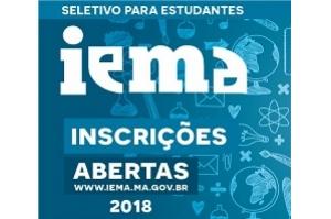IEMA recebe inscrições para seletivo 2018 até a sexta-feira (27)