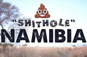 """Gostaríamos de convidá-los à Namíbia, um país de merda"""