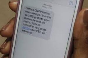 Alerta de desastres naturais via SMS começa no dia 26 no Norte e Nordeste