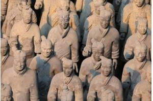 China condena roubo nos EUA do polegar de um dos guerreiros de Xian
