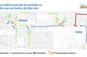 Prefeitura fará inversão de sentido no trânsito de ruas no Centro a partir de 2ª feira