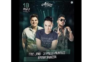 ERIC LAND E DJ PAULO PRINGLES, FAZEM SHOW NA ALLURE