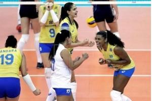 Brasil vence Holanda, mas não pode perder set para avançar no Mundial