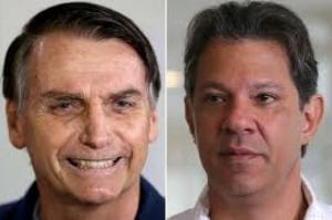 Bolsonaro tem 59% dos votos válidos e Haddad aparece com 41%, diz Ibope