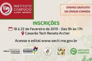 Instituto Confúcio na Unesp-Maranhão abre inscrições para novas turmas de mandarim