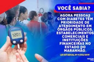 Atendimento prioritário para pessoas com diabetes agora é lei no Maranhão