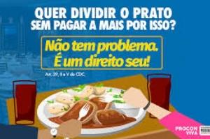 Restaurante não pode cobrar taxa por divisão de prato, alerta Procon/MA