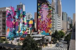 Grafite de 10 mil m² é produzido no centro São Paulo