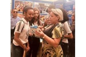Stand do Detran-MA em feira de educação atrai alunos do ensino fundamental e médio