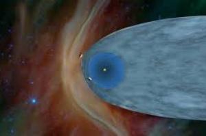 Como a nave espacial mais veterana cruzou a fronteira solar