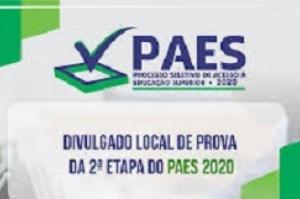 Segunda etapa do PAES 2020: mais de 16 mil candidatos participarão das provas