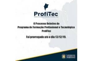 Prorrogadas até sexta (13) as inscrições para o Seletivo Especial do PROFITEC