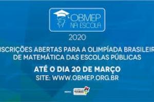 Seduc divulga prazo de inscrições para a OBMEP 2020