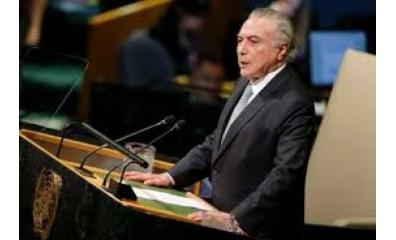 Temer critica protecionismo e nacionalismo exacerbado em discurso na ONU