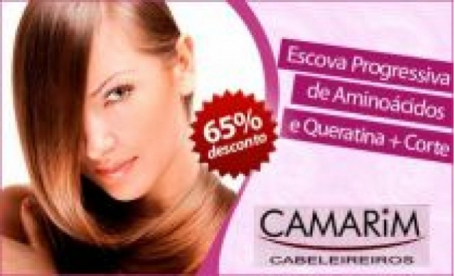 Escova Progressiva de Aminoácido e Queratina + Corte. Por R$119,00