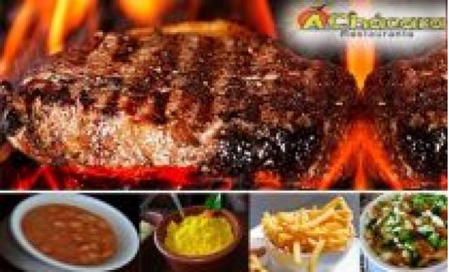 Carne de Sol na Brasa + 8 Acompanhamentos no Restaurante A Chácara. Serve até 3 pessoas. De R$ 98,00 Por R$  49,98
