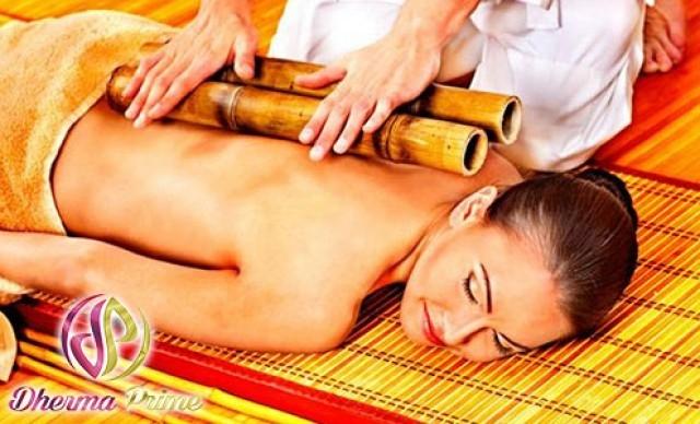 Bambuterapia + Massagem Relaxante ou Massagem Modeladora + Aromaterapia + Fototerapia + Produtos Drenantes e Lipolíticos. De R$ 160,00 por R$ 40,00.