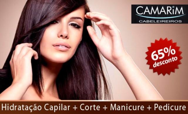 Hidratação Capilar + Corte + Manicure + Pedicure. De R$ 200,00 por R$ 70,00