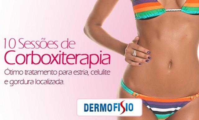 10 Sessões de Carboxiterapia em 4 Áreas, na Dermofisio. Por R$ 200,00.