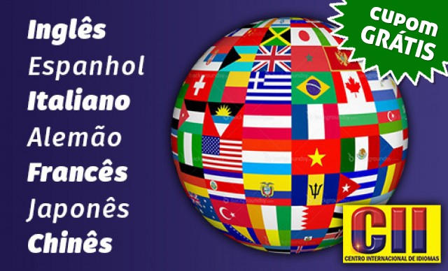 Curso de Língua Estrangeira 6 meses – 8 Opções (Inglês, Espanhol, Italiano, Alemão, Francês, Japonês, Russo e Chinês). Por 2x R$ 250,00.