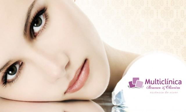 Higienização Facial + Extração de Cravos e Espinhas + Peeling de Diamante + Esfoliação + Nutrição + Hidratação de R$ 200,00 por R$ 98,00