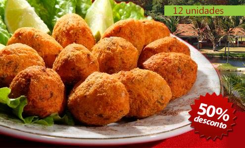 917291acc8c26 Bolinhos de Bacalhau (12 unidades) no Restaurante do Aventura Rural. Por R   12