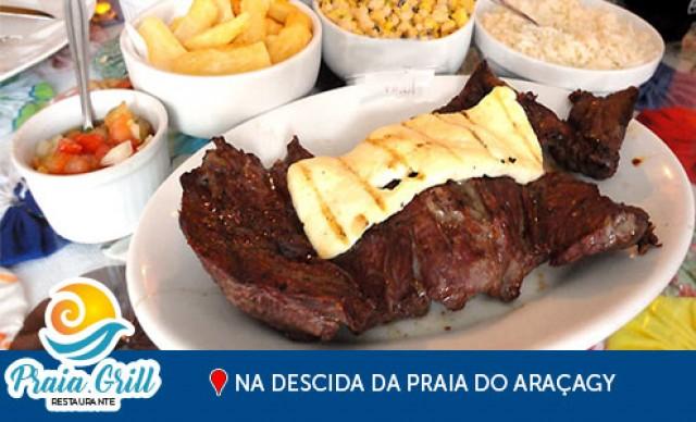Carne de Sol do Sertão p/ 4 Pessoas, no Praia Grill. De R$ 98,00 por R$ 73,50.