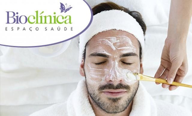 8 Tratamentos Facias na Bioclínica. Oferta especial p/ os Homens! Por R$ 60,48