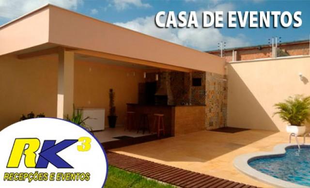 Faça a sua festa! Locação da Casa de Eventos RK3 . De R$ 450,00 por R$ 225,00.