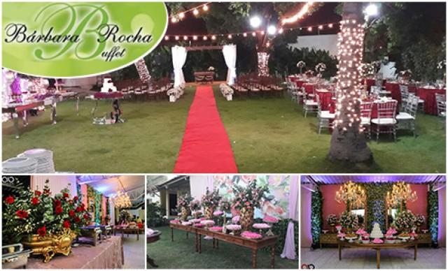 Buffet Coquetel com Espaço + Decoração + Salgados + Bebidas para 100 pessoas. De R$ 8.500,00 por R$ 5.950,00