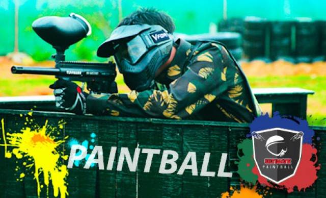 Paintball c/ 150 Tiros 1h + Máscara + Colete . A Diversão é Garantida! no Ultimate Paintball. De R$45,00 Por R$36,00