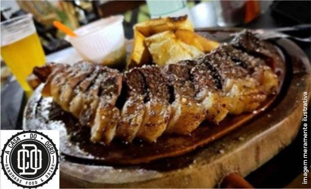Picanha Argentina + 2 chopp Pilsen Artesanal + Farofa + Chimichurri De R$ 64,00 por R$ 39,68
